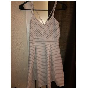 Women's Black and White Spaghetti Strap Dress
